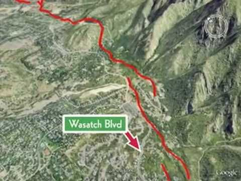 Fly Along The Wasatch Fault In Google Earth To Explore The