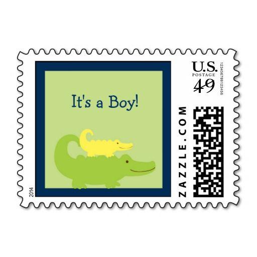 Alligator Baby Shower Postage Stamps Personalized Stamps Birthday Postage Postage Stamps