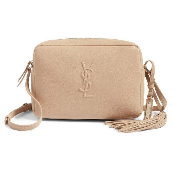 2fac23e13b Women s Saint Laurent Small Mono Leather Camera Bag ( 995) ❤ liked on  Polyvore featuring