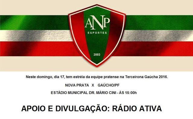 Rádio Web Mix Esporte&Som: Nova Prata: Domingo tem ANPE X Gaúcho, abertura da...