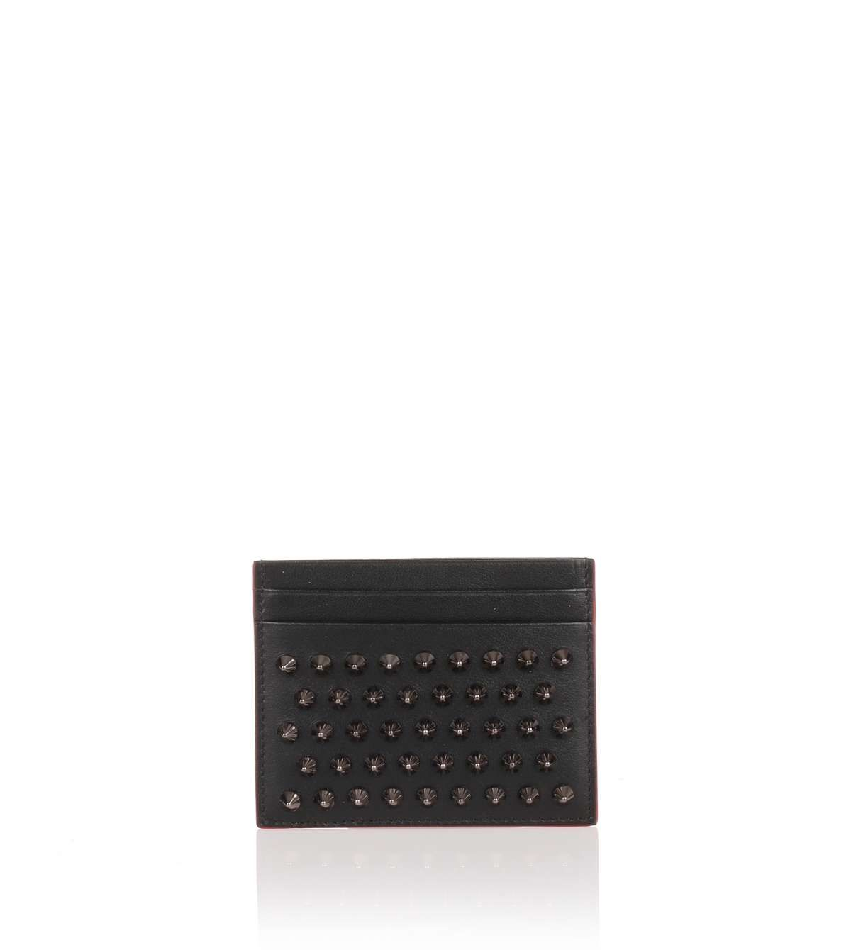 029f51abc79 Kios black spikes card holder | Shop Now | Real leather wallet ...