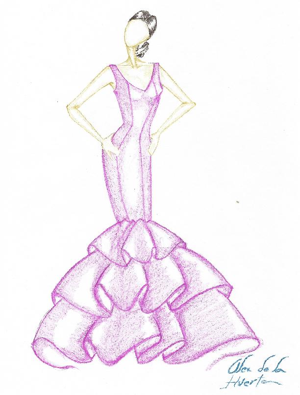 Como hacer traje flamenca con tres volantes capa | flamenca ...