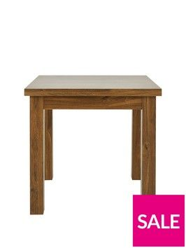 Square To Rectangle 80 160 Cm Extending Dining Table Very Co Uk