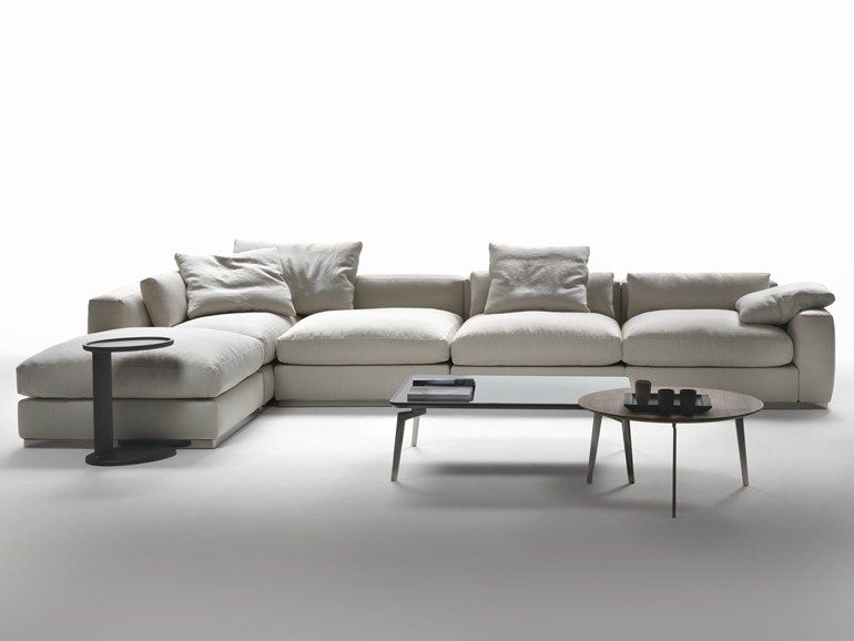 Divano Ad Angolo Moderno Design.Corner Sectional Fabric Sofa Beauty Collection By Flexform