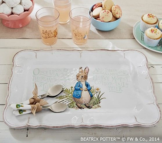 "Peter Rabbit Inspired Easter Event With Pottery Barn Kids: 7x17"" Melamine Platter ($19"