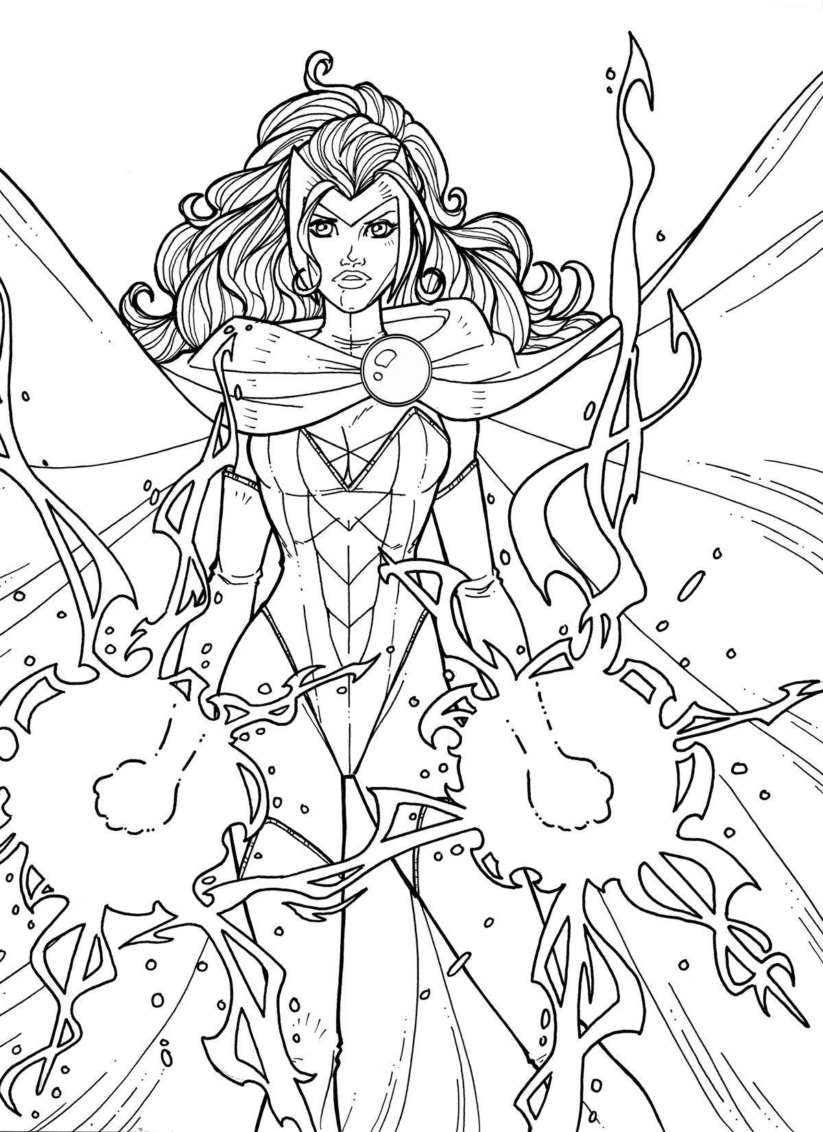 enchantress marvel coloring pages - photo#31