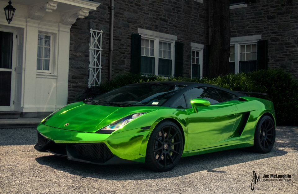 Attractive Chrome Green Lamborghini Gallardo #6