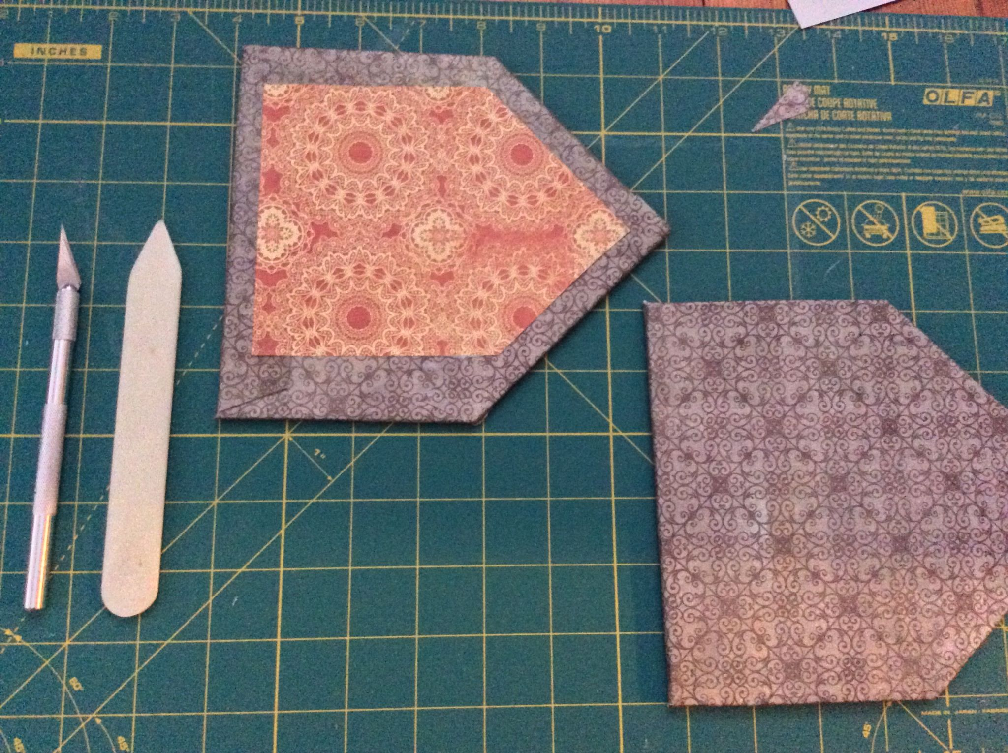 End boards for a Hungarian map-fold book.