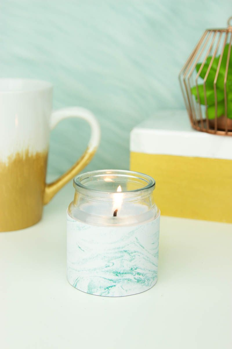 diy marble candles- urban outfitters inspired | diy teen room