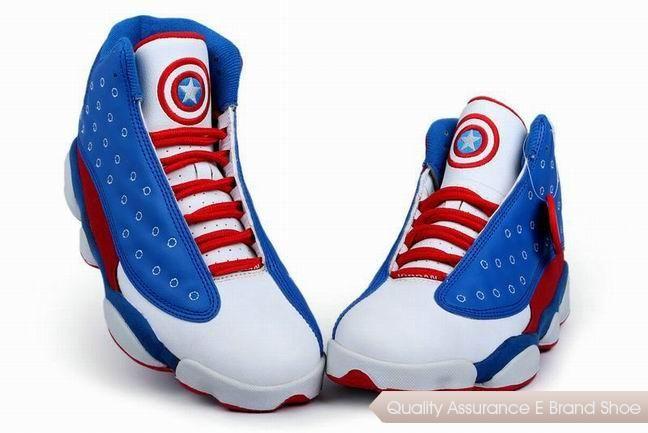 nike air jordan 13 captain america blue white red sneakers p 3461