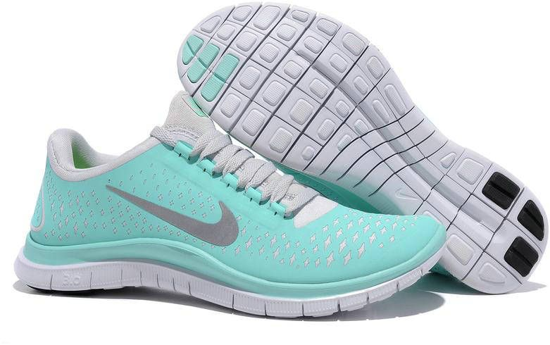 separation shoes ff92c c0c5a Womens Nike Free 3.0 V4 Aqua Silver Shoes. im in love!