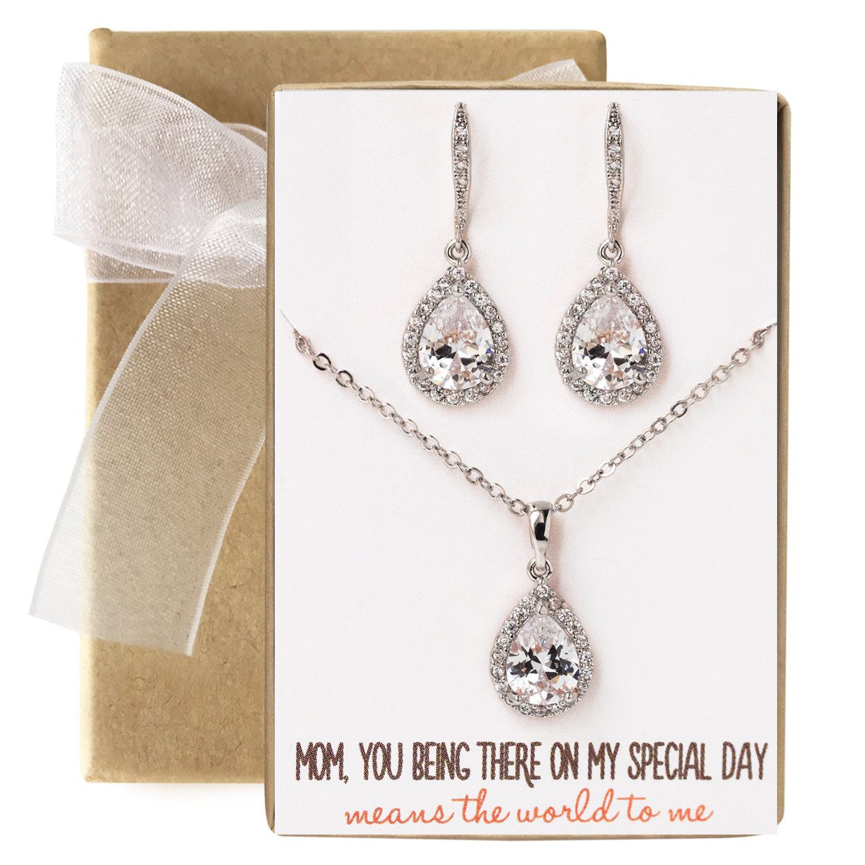 Gift for her. Everything is coming up Roses Women/'s necklace and dangle earring set Women/'s jewelry gift set
