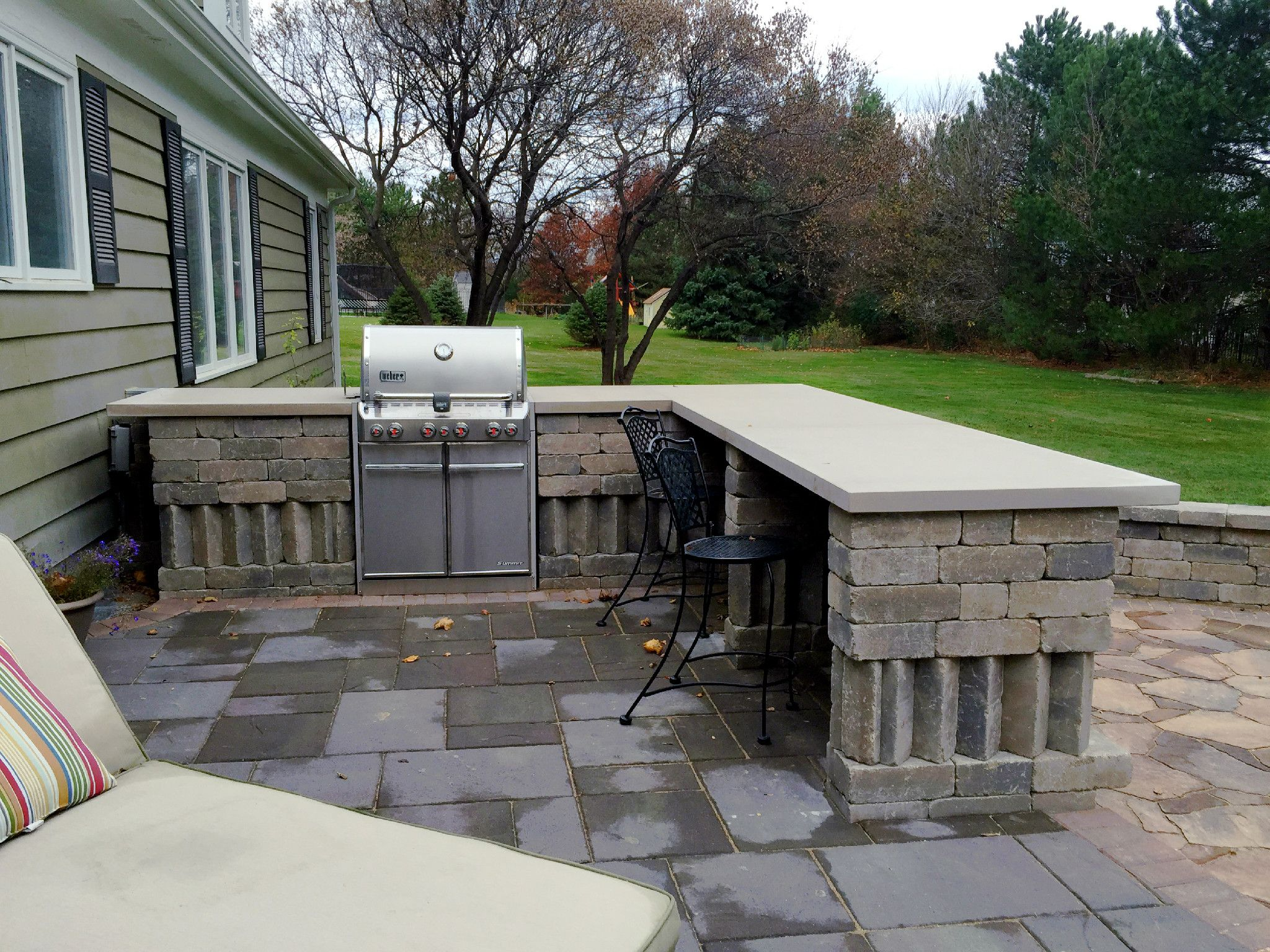 Chicagoland Outdoor Kitchen By Suburb Of Chicago Patio Builder