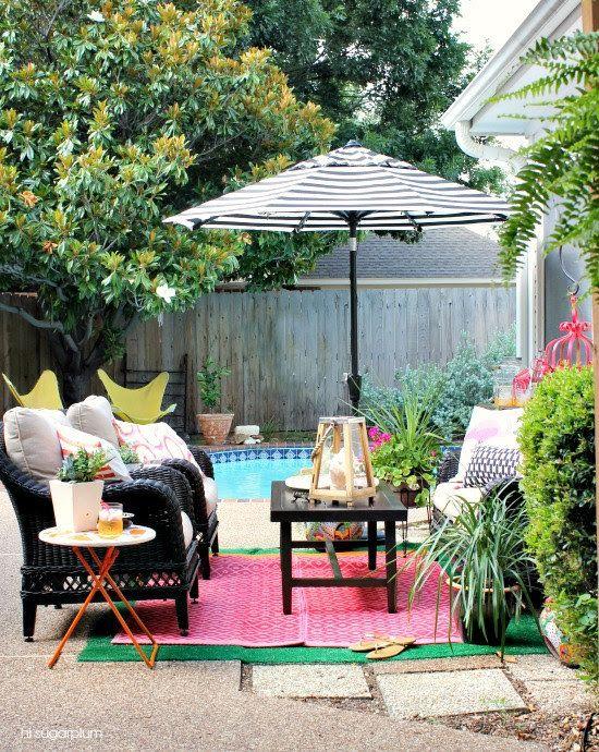 Hi Sugarplum Color Patio Makeover lugares-Carlos Cubillos - decoracion de terrazas con plantas