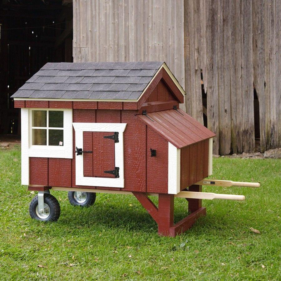 Amish Red A Frame Wheelbarrow Chicken Coop 3 X 4 Easy Chicken Coop Chicken Diy Diy Chicken Coop