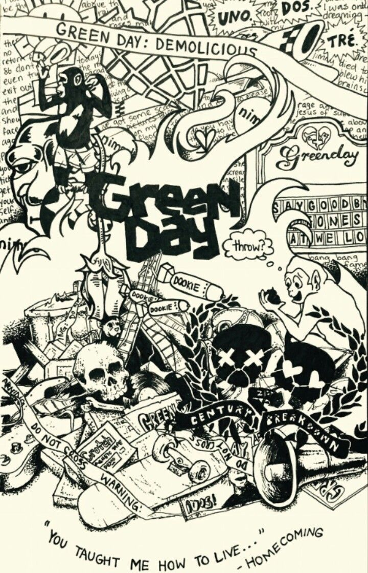 Green Day Dookie Iphone Wallpaper