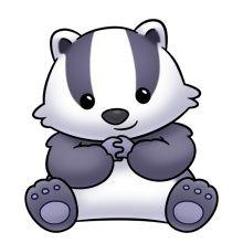 baby badger trims pinterest clip art animal and rock painting rh pinterest com badge clip art free badger clipart free