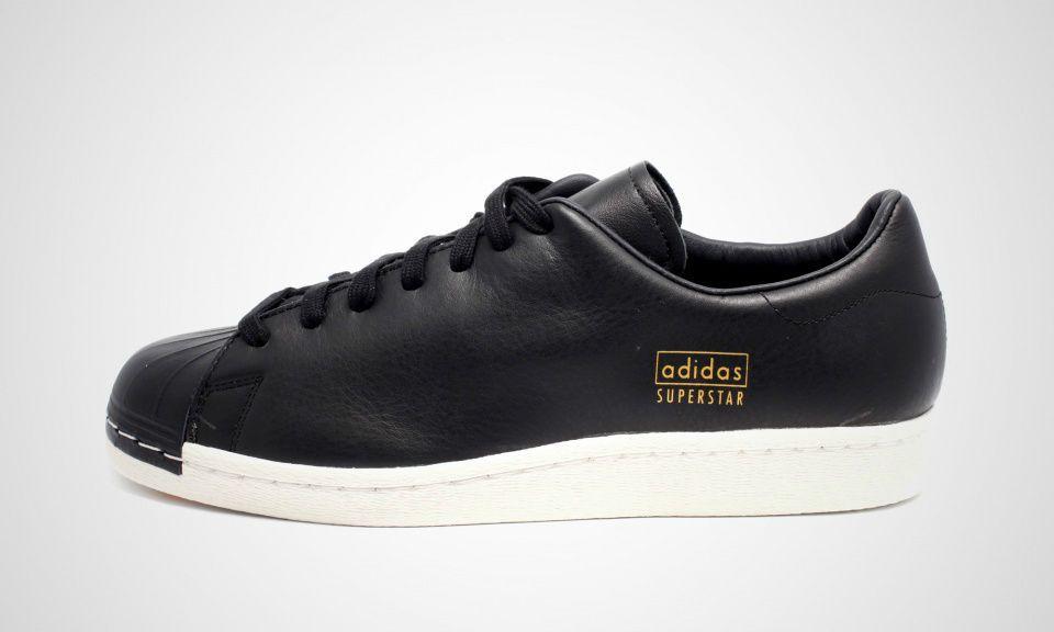best authentic 42e6d a9790 adidas Originals Superstar 80s Clean Black