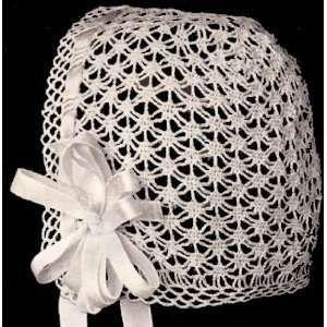 Vintage Antique Crochet PATTERN to make Pineapple Baby Cap Hat Bonnet ShamrockBB