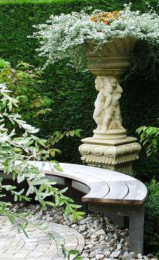 Halbrunde Gartenbank Selbst De Garten Banke Garten Gartenbank