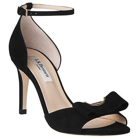 Margo Black Suede Peep Toe Heel - L.K. Bennett | Luxury