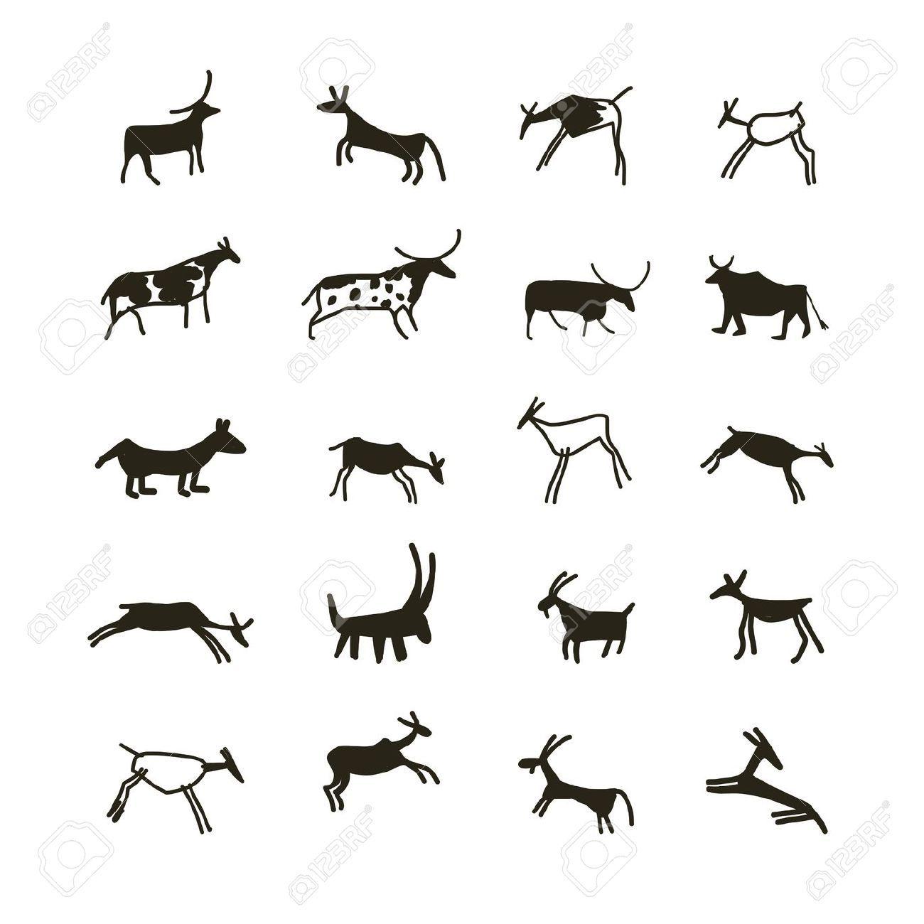 Dessins rupestres recherche google dessins reproduire drawings free illustrations et art - Coloriage grotte ...