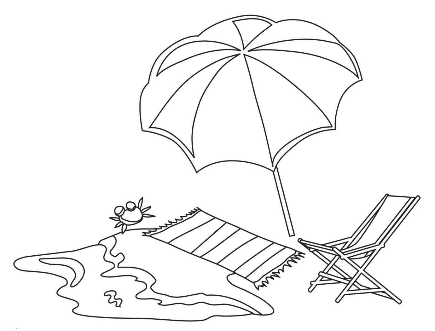 dibujo tumbona playa para colorear - Buscar con Google | Dibuixos ...