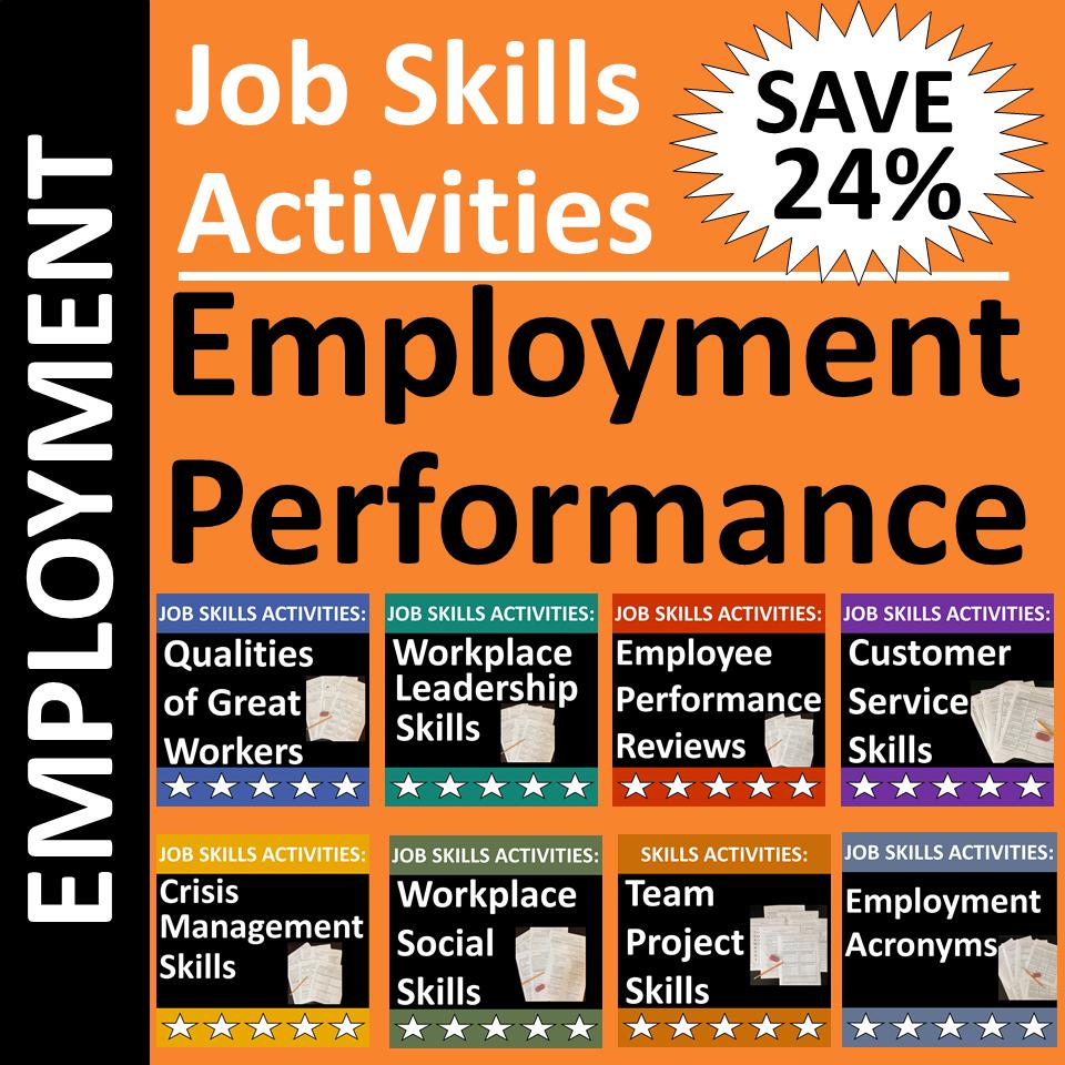 Job Skills Activities For Classroom Or Distance Learning Skills Activities Distance Learning Work Skills