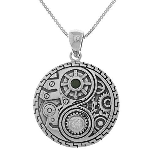 Jewelry Trends Sterling Silver Celtic Sun Moon Tree of Life Pendant Necklace 18