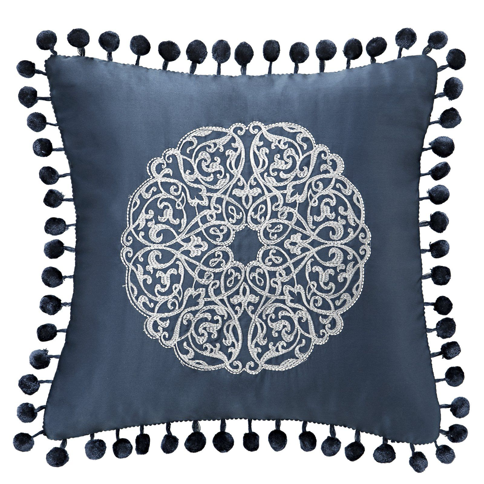 Waterford Jonet Square Throw Pillow By Waterford Blue Throw