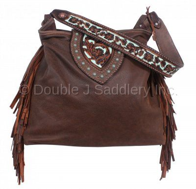 770211b7df Brown Bomber Fringe Big Tote by Double J Saddlery.