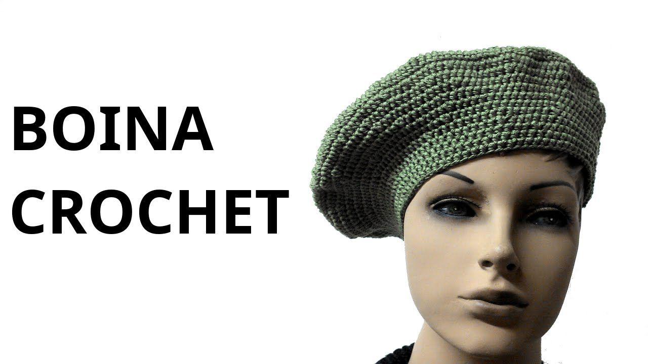 Boina Clásica para mujer en tejido crochet tutorial paso a paso ...