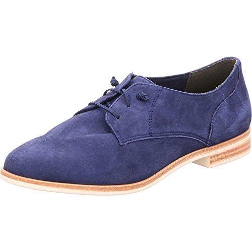 Tamaris 1-1-23204-28-806 - Zapatos de cordones de Piel para mujer, color azul, talla 42 EU