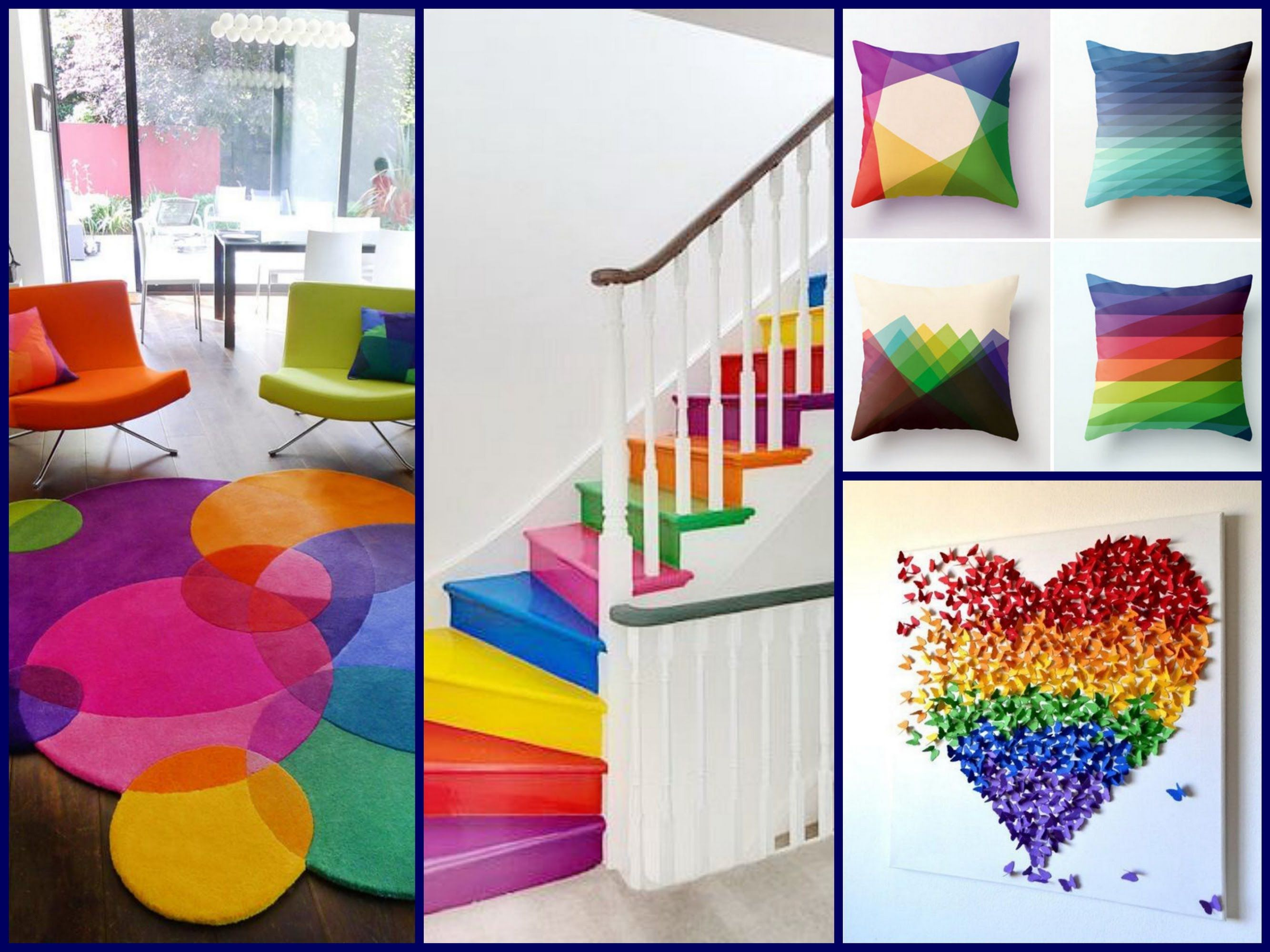 Awesome Spring Decor Ideas   Rainbow Home Decorating Ideas