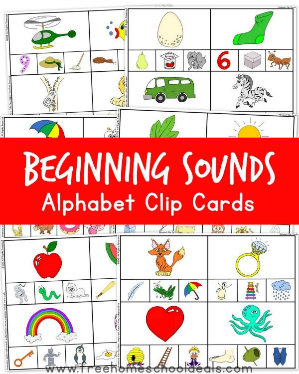 free beginning sounds alphabet clip cards alphabet activities beginning sounds beginning. Black Bedroom Furniture Sets. Home Design Ideas