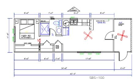 This Is The Perfect Floor Plan For A 12x32 Dirksen