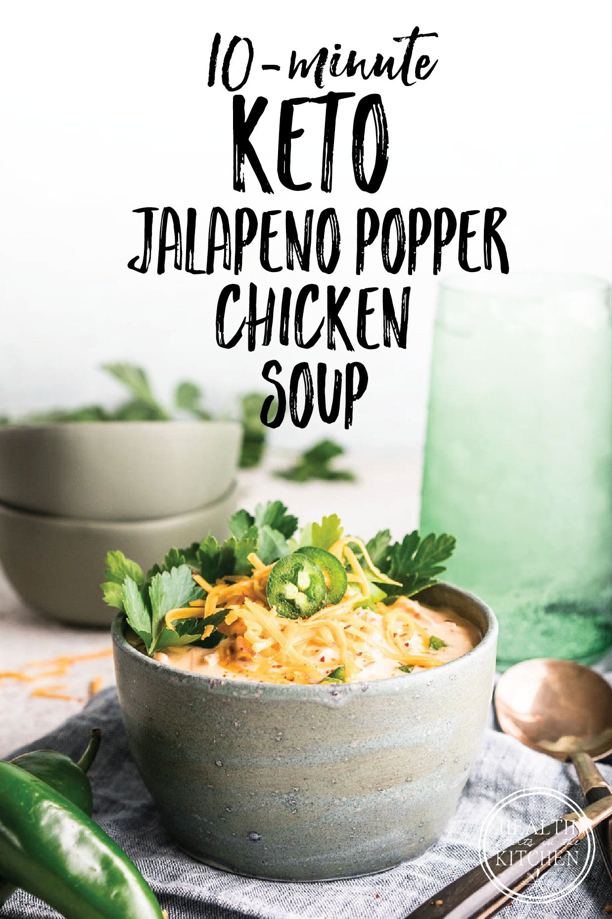 Photo of 10 Minute Easy Keto Jalapeño Popper Chicken Soup