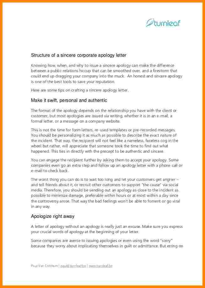Worded Business Letter Example Apology Letters Home Design Idea  Example Of Apology Letter To Customer