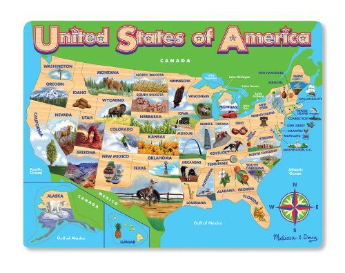 Melissa Doug USA Map Jigsaw Puzzle Melissa Doug httpwww
