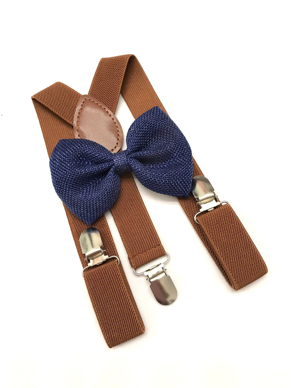 30e2e25f29a3 Burlap Bow tie Royal Blue bow tie for kids bowtie and suspender set ...