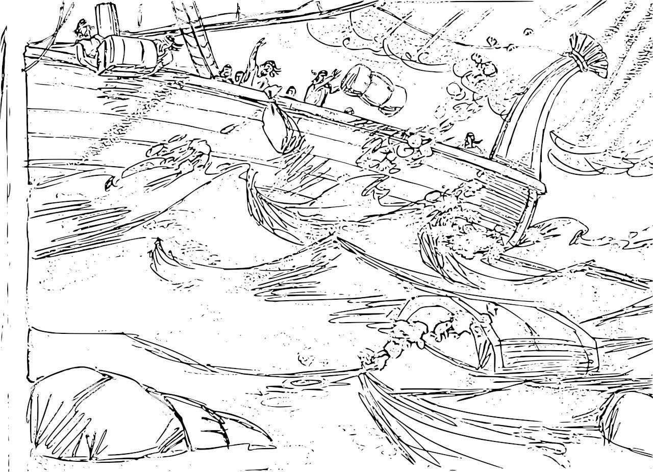 Jonah Whale Coloring Pages | Whale coloring pages ...