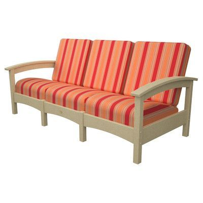 Trex Rockport Club Sofa Color: Sand Castle / Bravada Salsa