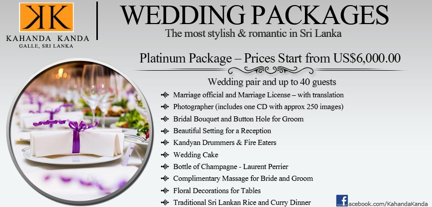 Kk Platinum Wedding Packages Overseas Weddings Are Becoming More And More Popular Sri Lanka Is One Of The Worl Wedding Package Tea Estate Platinum Wedding