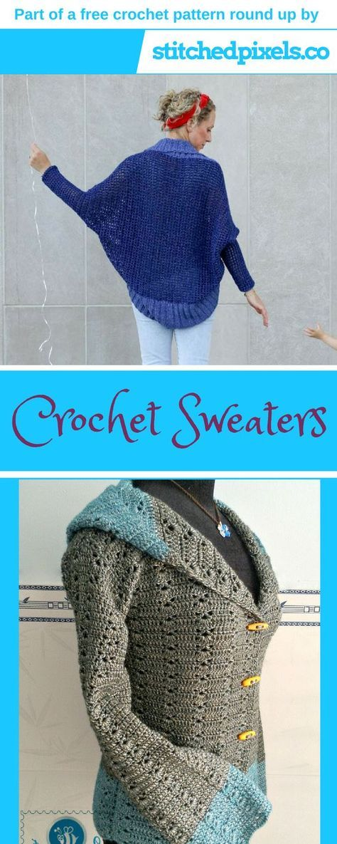 Free Crochet Pattern Round Up Make Your Own Warm And Cozy Sweater