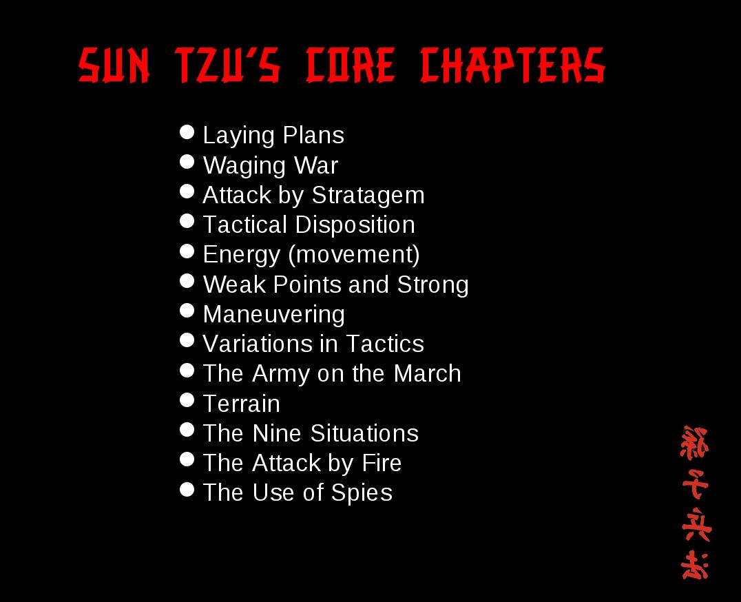 Sun Tzu and The Art of CyberWar Sun tzu, Art of war