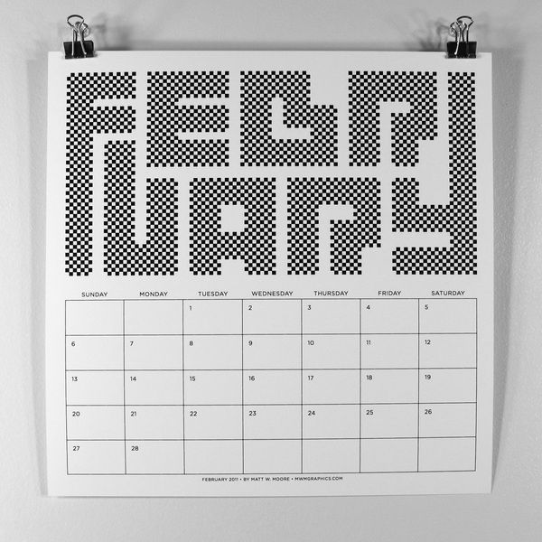 MWM : B/W Typography 2011 Calendar