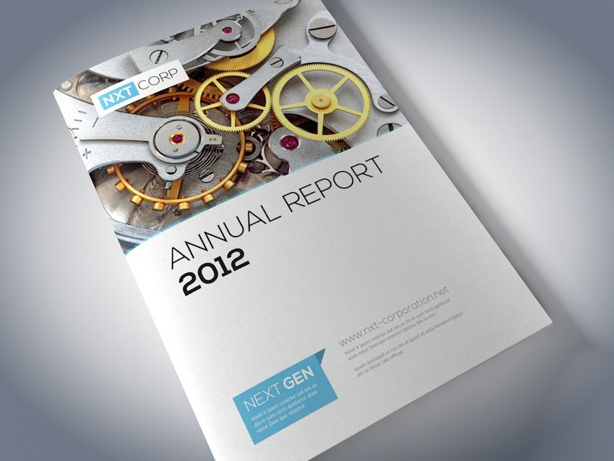 Hello This is an Annual report brochure template made by me – Corporate Report Template
