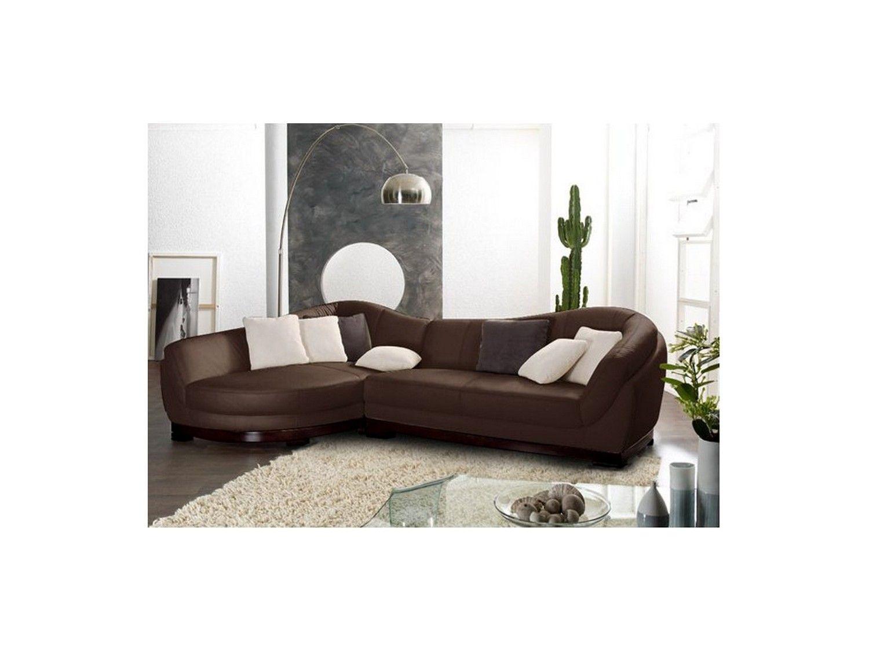ecksofa leder rundecke capri ii braun ecke links zu. Black Bedroom Furniture Sets. Home Design Ideas