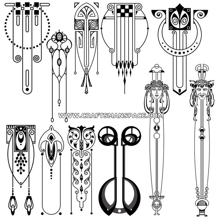 Vertical Art Nouveau Designs Design Art Nouveau Tatouage Art Deco Art Nouveau