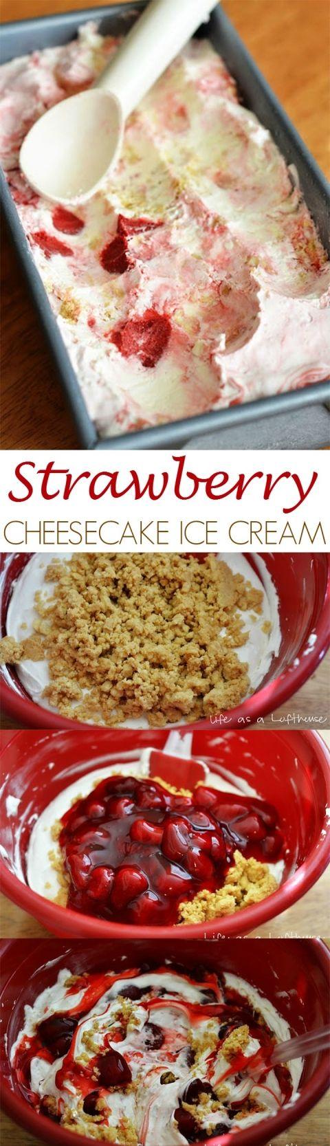 Strawberry_Ice_Cream_PIN #cheesecakeicecream